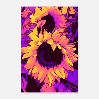 Funky Funky Sunflower - Sunflowers / welikeflowers - Poster