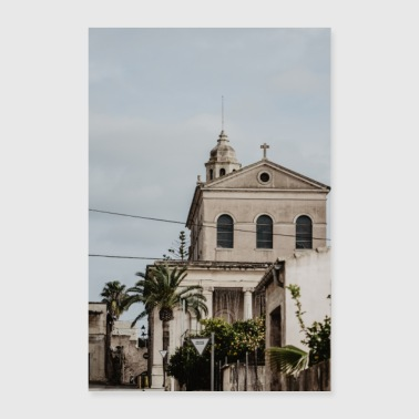 Mallorca church village - Poster 16 x 24 (40x60 cm)