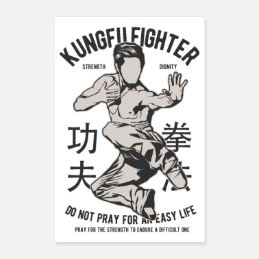 Martial Arts KUNG FU FIGHTER - Martial Arts Gifts Shirts - Poster