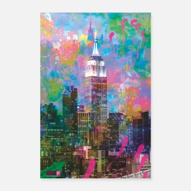 I Love New York 04 Buongiorno NEW YORK! Poster Margarita Art - Poster 40x60 cm