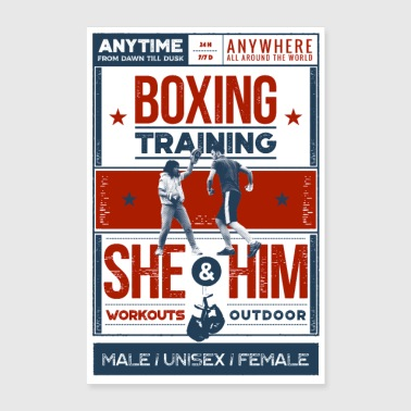 Boxing training - Poster - Poster 40 x 60 cm