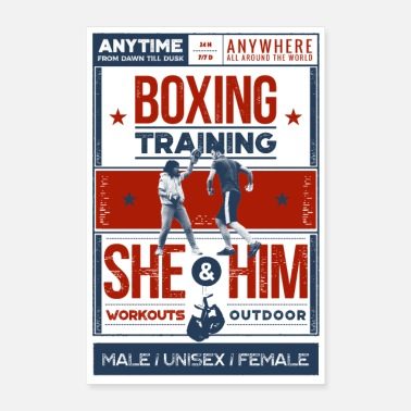Training Boxing training - Poster - Poster 16 x 24 (40x60 cm)