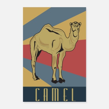 Old School Kamel Retro Ägypten old school Kamele - Poster 40x60 cm