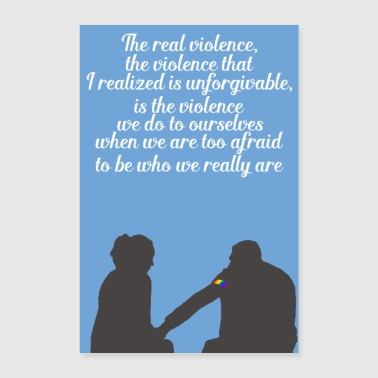 The real violence - Poster 16 x 24 (40x60 cm)