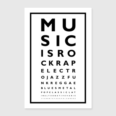 Music Poster - Poster 40 x 60 cm