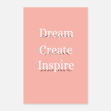 Uni dream create inspire - Poster 40x60 cm