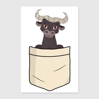 Beef Bull in shirt pocket - Poster 16 x 24 (40x60 cm)