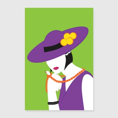 Madame in violet - Poster 16 x 24 (40x60 cm)