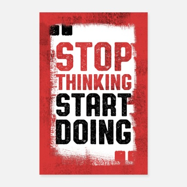 Training Stop Thinking, Start Doing - Poster