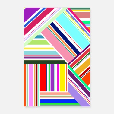 Animo Colorful Lines - Poster