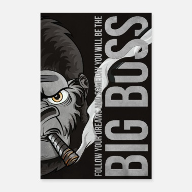 Boss Big Boss Illustration Poster 61x91,5 - Poster 16 x 24 (40x60 cm)