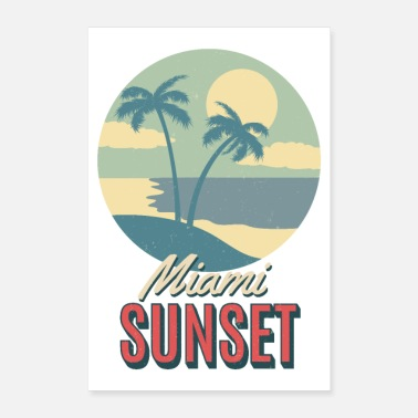Beach Volley Beach Summer Miami Florida Tramonto Key West Palms - Poster