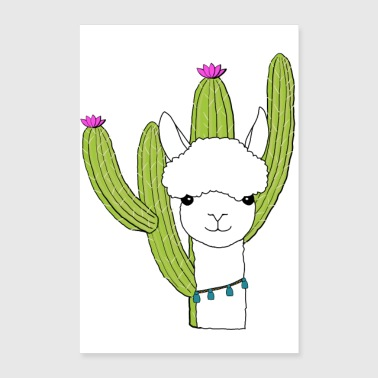 South Alpaca cactus South America - Poster 16 x 24 (40x60 cm)