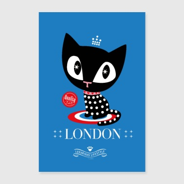 Pussy Deluxe London Katze Poster - Poster 40x60 cm