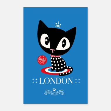 Trip Pussy Deluxe London Katze Poster - Poster 40x60 cm