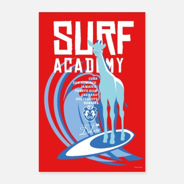 Pussy Deluxe Giraffe Surf Academy - Poster 40x60 cm