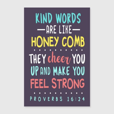 Bible Proverbs 16:24 - Poster 16 x 24 (40x60 cm)
