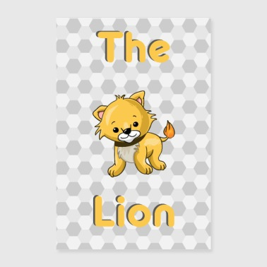 Le Lion Löwer Bébé Animal - Poster 40 x 60 cm