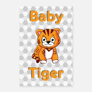 Baby Baby Tiger Baby Animal - Poster
