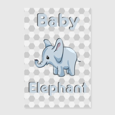 Baby olifant Olifant baby dier - Poster 40x60 cm