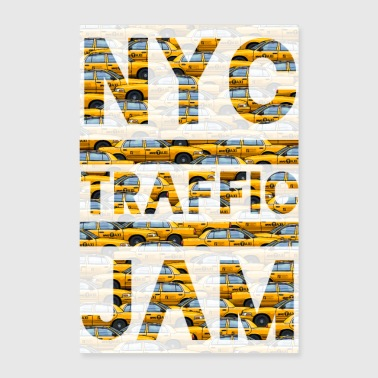 Nyc Taxi embouteillage NYC New york cab jaune big apple - Poster 40 x 60 cm