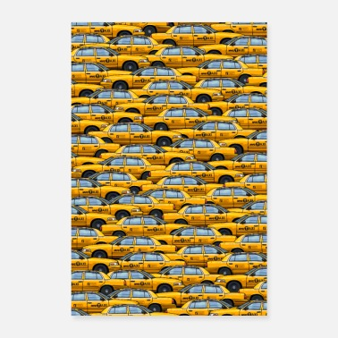 Nyc NYC traffic jam taxi new york yellow cab big apple - Poster 40x60 cm