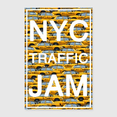 Nyc NYC embouteillage taxi new york cabine jaune grosse pomme - Poster 40 x 60 cm