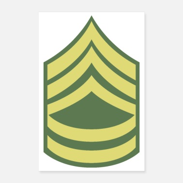 Uniform Name Military Uniform US Army Sergeant First Class - Poster