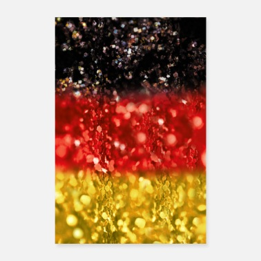 Germany 05 Germany flag banner glitter poster shirt - Poster