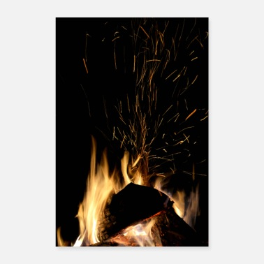 Hitze Lagerfeuer - Poster 40x60 cm