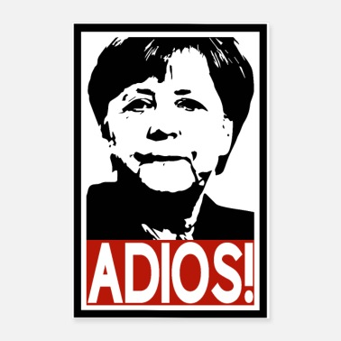 Government Adios! Mrs Merkel - Poster 16 x 24 (40x60 cm)
