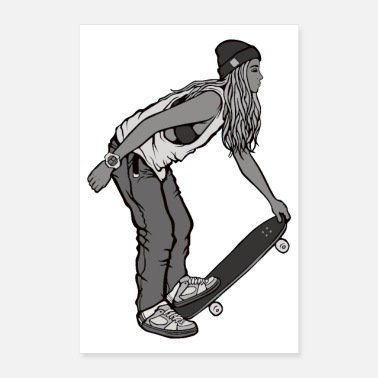 Person SKATEBOARDING T-Shirt - Poster 40x60 cm