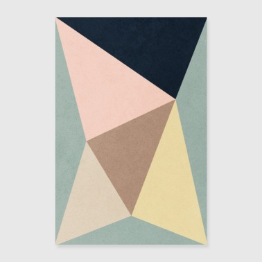 GEOMETRIC MINIMAL TRIANGLES AND COLORS - Poster 16 x 24 (40x60 cm)