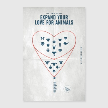 Poster «Expand your love ...» (Special Edition) - Poster 40x60 cm
