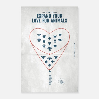 Speziesismus Poster Expand your love... (Special Edition) - Poster