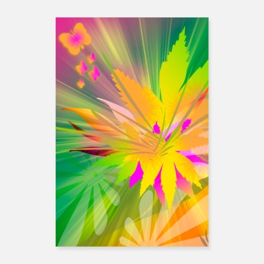 Inspiration Flower Power - inspiration of colors - Poster 16 x 24 (40x60 cm)