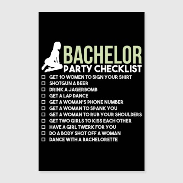 Bachelor Party Checklist - JGA Bridegroom Rumble - Poster 16 x 24 (40x60 cm)