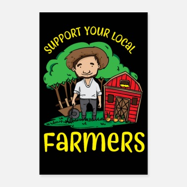 Manure Fork Support Your Local Farmers - Poster