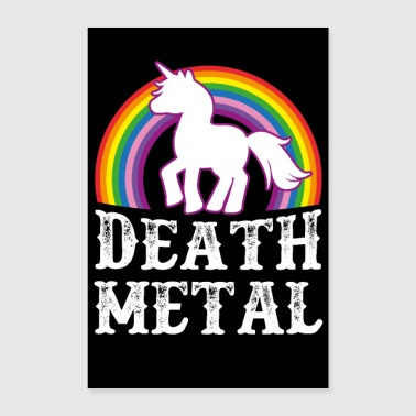 Death Metal Unicorn - Poster 40x60 cm