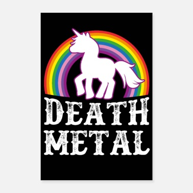 Heavy Metal Death Metal Unicorn - Póster 40x60 cm