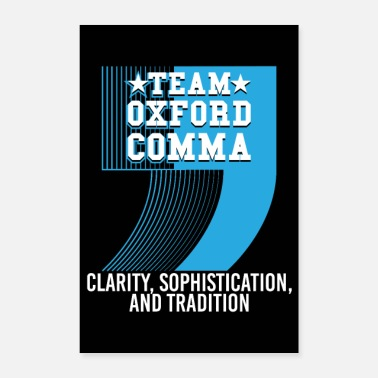 Tradition Team Oxford Comma - Poster 40 x 60 cm