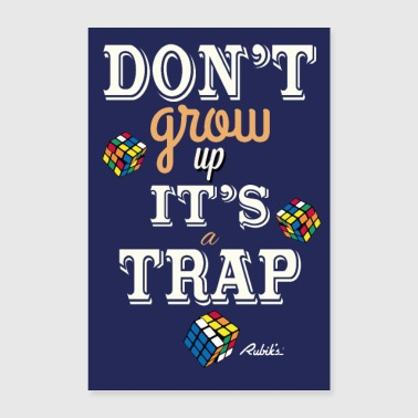 Rubik's Cube Do not grow up - Poster 16 x 24 (40x60 cm)