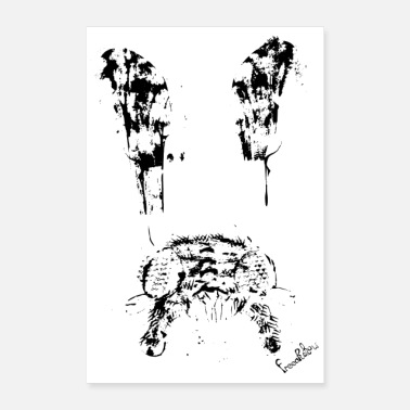 Fly black fly wings fly abstract modern - Poster
