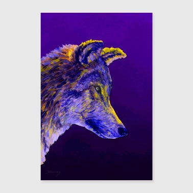 Paar Wolf paars - Poster 40x60 cm