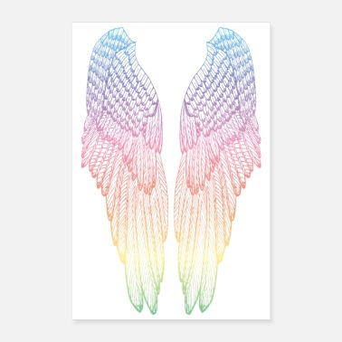 Long Long Rainbow Wings - Poster