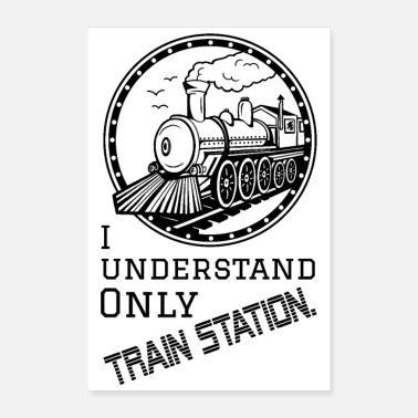Trainer Train Station - Poster weiß - Poster 40x60 cm
