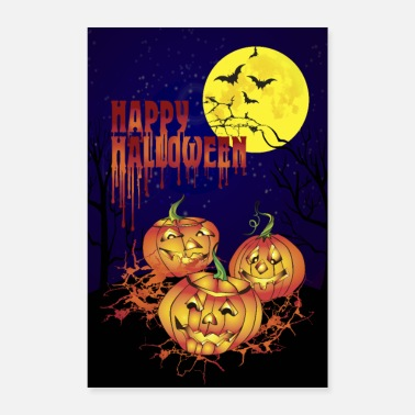 Happy Birthday Happy Halloween pystysuora juliste - Juliste 40x60 cm