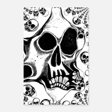 Punk Rock scull - Poster 16 x 24 (40x60 cm)
