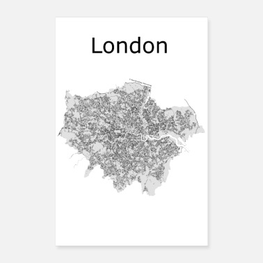 Tower Bridge stylized street map London - Poster 16 x 24 (40x60 cm)