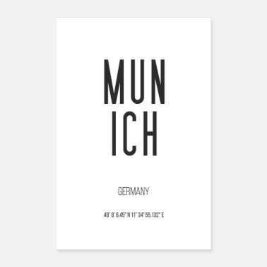 Munich Munich Germany black white - Poster 16 x 24 (40x60 cm)